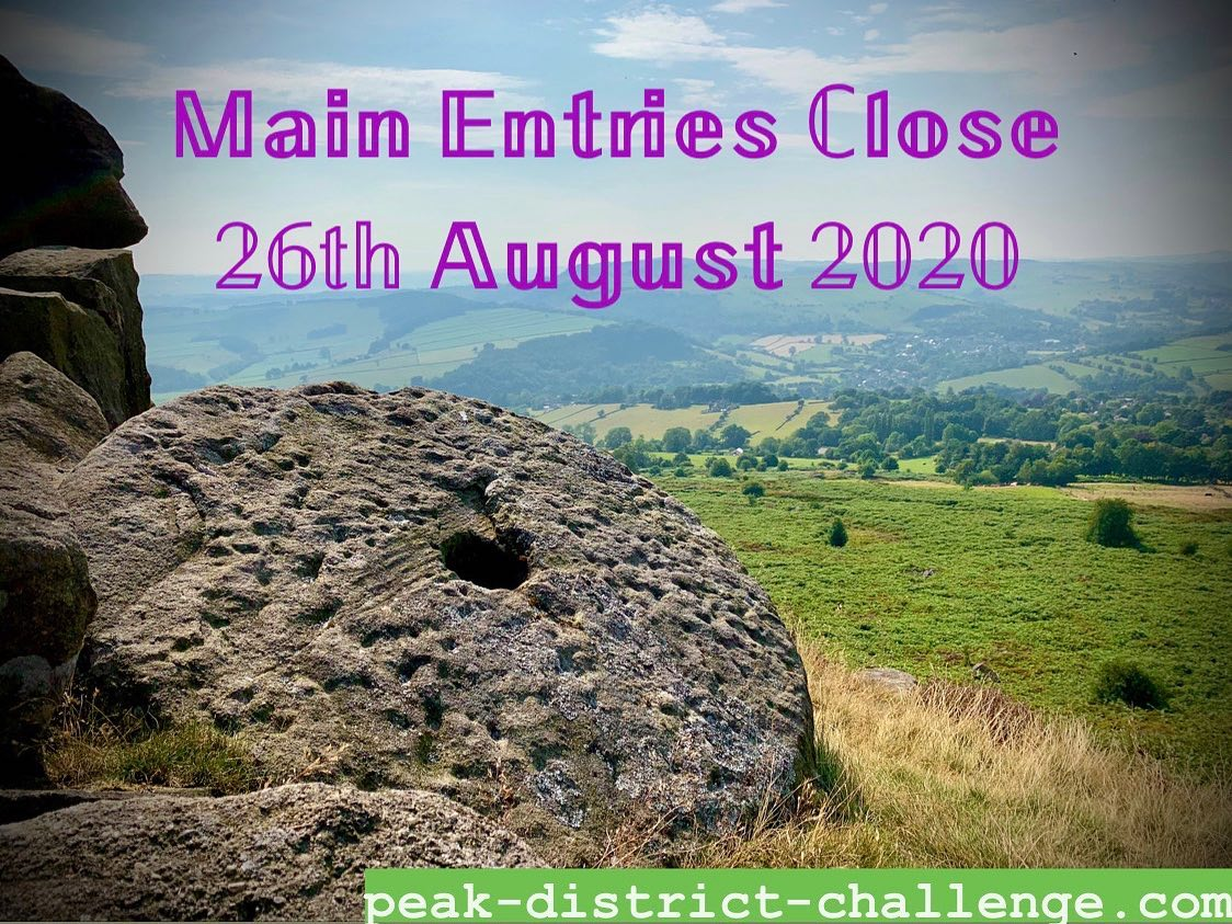 Main entries close TODAY for The Peak District Challenge 2020, which is going ahead on 18-19 Sept...