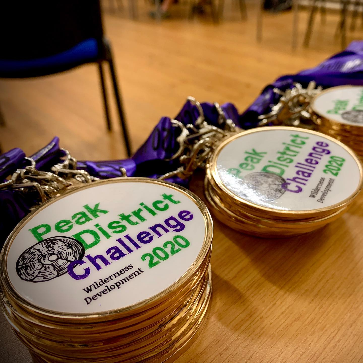 Our first wave of challengers have left and we're getting everyone's medals ready for tomorrow 🏅⛰🏅