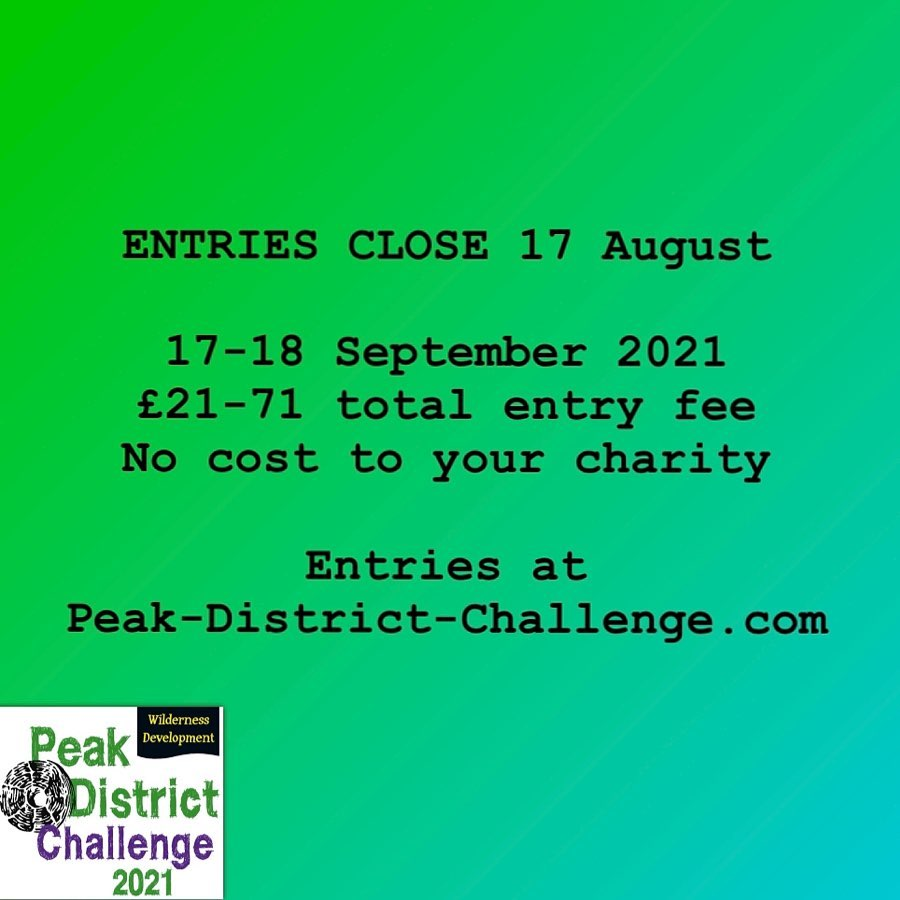 Entries close for the 2021 Peak District Challenge on 17th August! Don't miss out, sign up now at...
